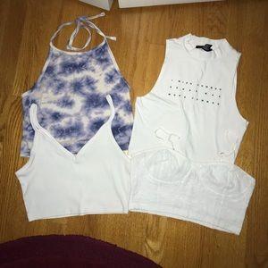 white crop top bundle